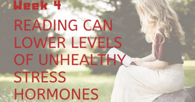 Reading can lower levels of unhealthy stress hormones.