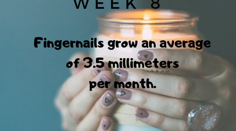 Fingernails grow an average of 3.5 millimeters per month.