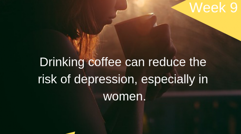 Drinking coffee can reduce the risk of depression, especially in women.