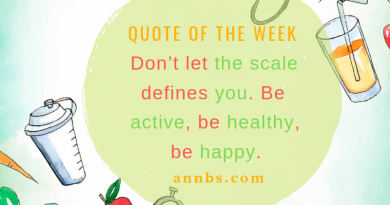 Don't let the scale define you. Be active, be healthy, be happy.