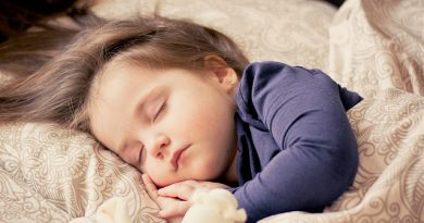 A child is sleeping