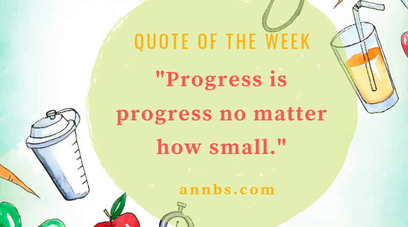 Progress is progress no matter how small.